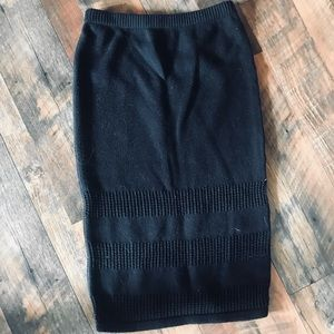 RVCA Black Knitted Pencil Skirt